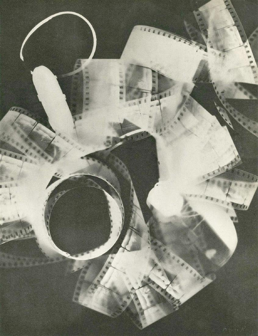 1802: MAN RAY - Rayograph - Film Strip Roll Up