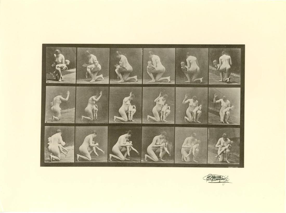 1976: EADWEARD MUYBRIDGE [d'apres] - Woman Spanking a