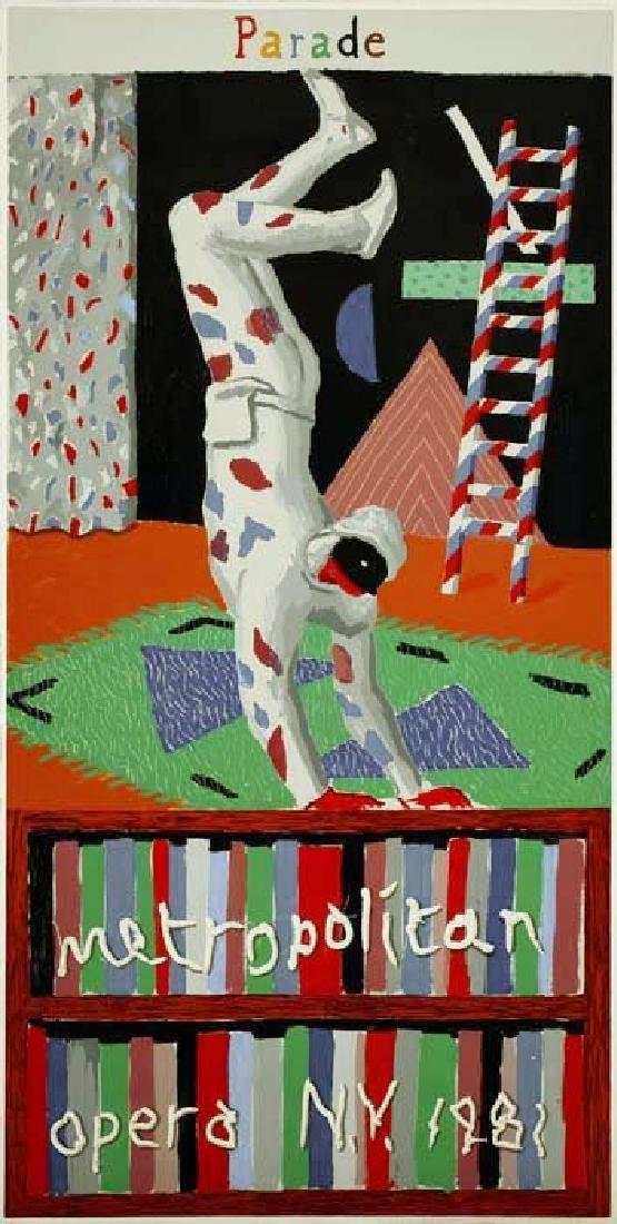 214: DAVID HOCKNEY - Parade, Metropolitan Opera, N.Y.,