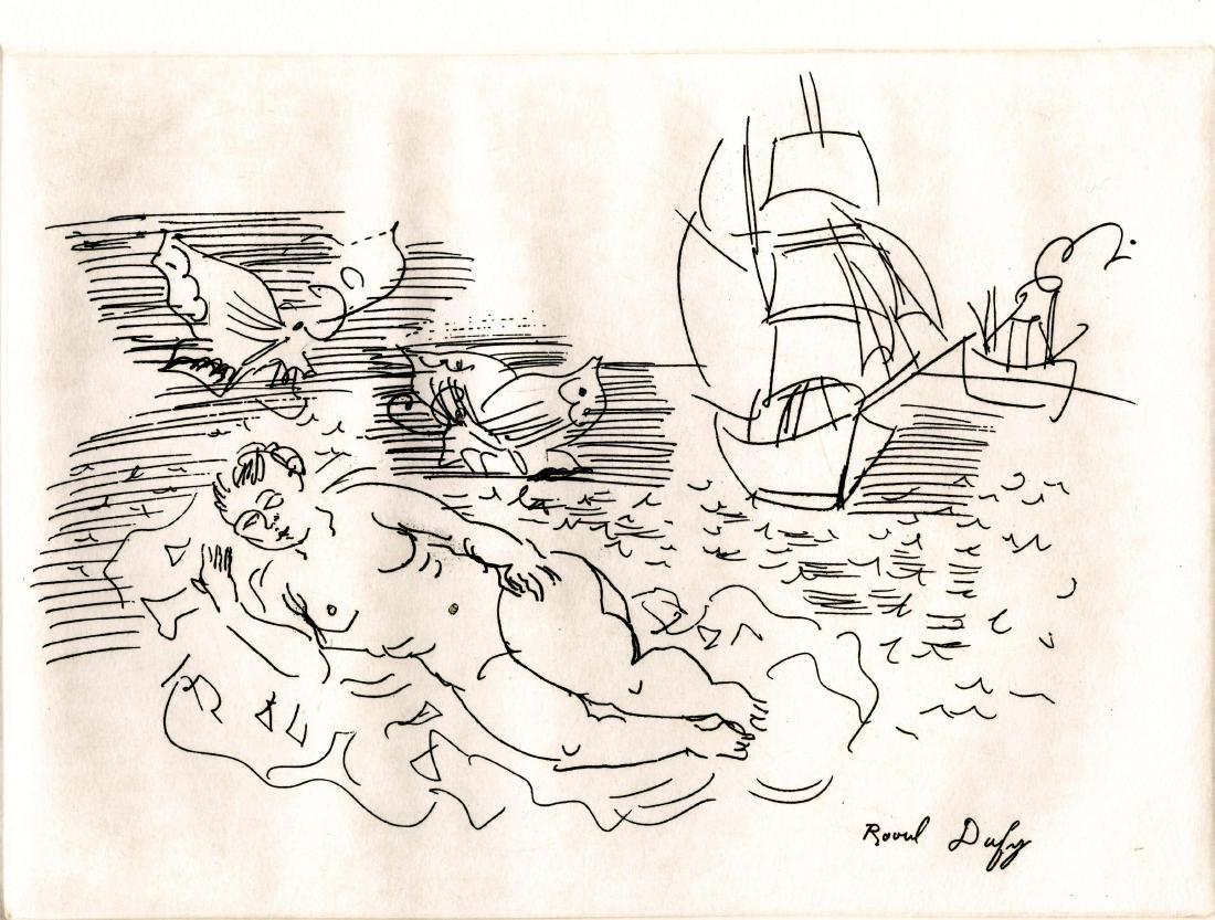 232: RAOUL DUFY - Nu se reposant sur la plage