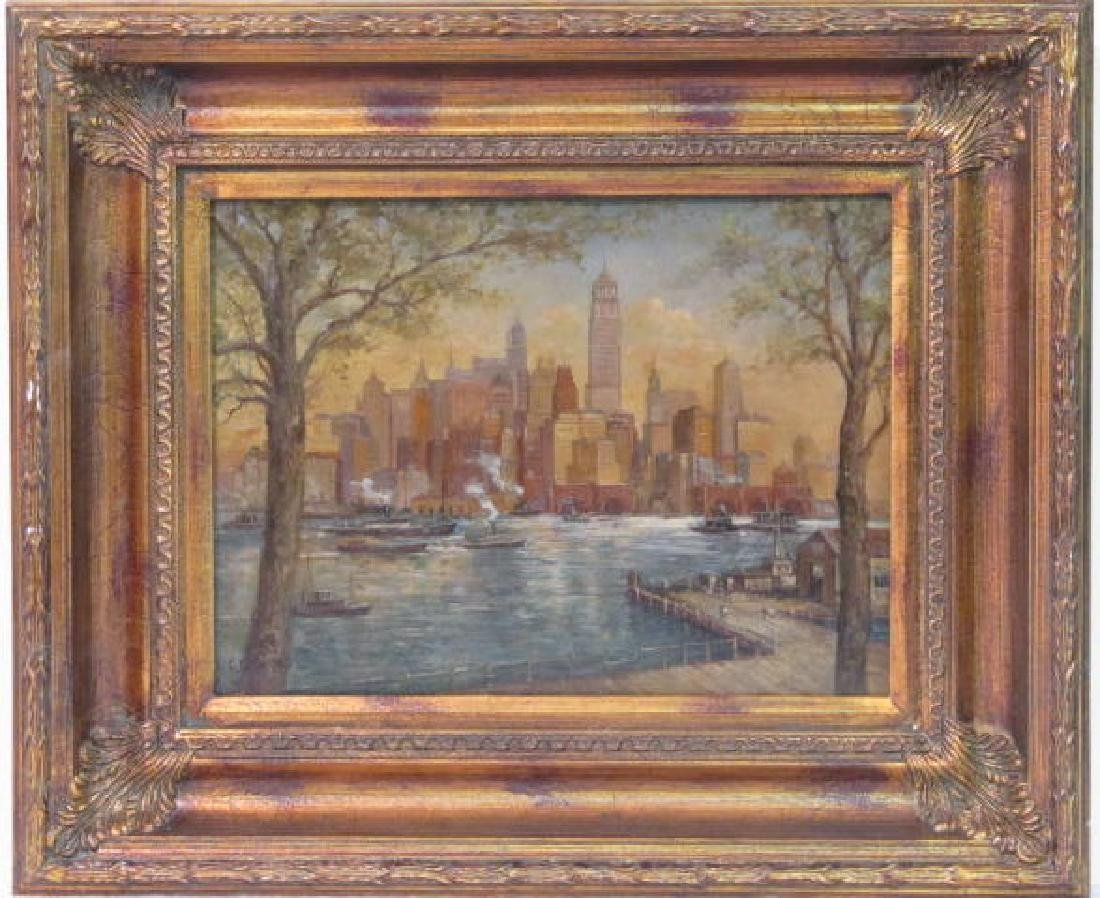243: C. C. COOPER - New York City from the Dock