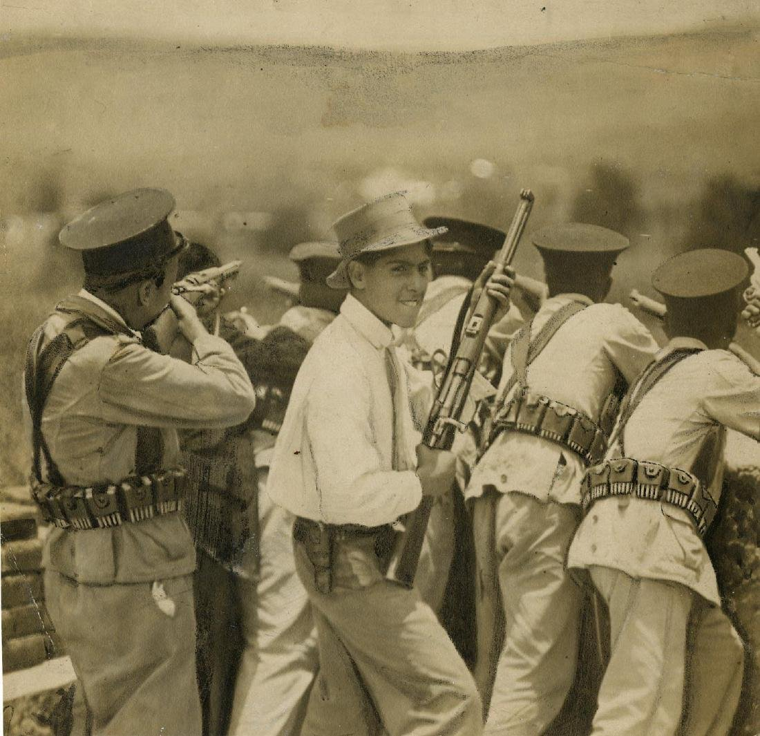 269: C. B. WAITE - Mexican Revolution Battle Scene