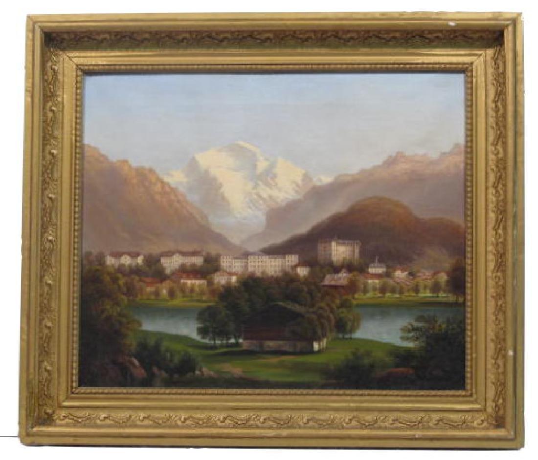 461: RUDOLF MULLER - Dorf in den Alpen
