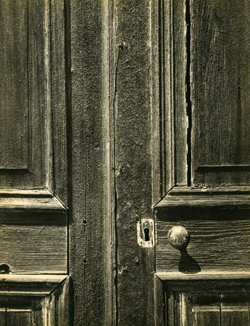 462: ANSEL ADAMS - Door, Old Church, Chinese Camp,