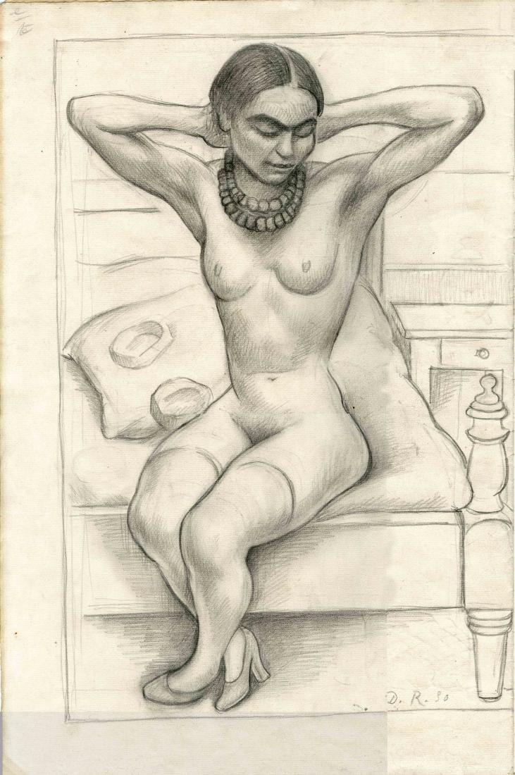 473: DIEGO RIVERA - Desnudo Sentado con Brazos