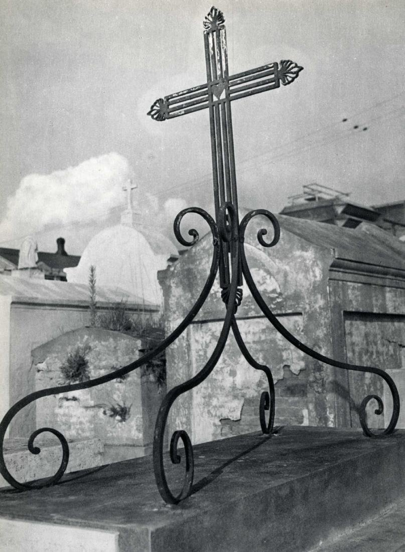 488: CLARENCE JOHN LAUGHLIN - Cross on Curlicues