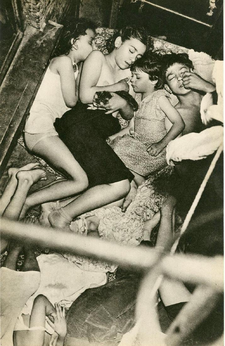 516: WEEGEE [arthur h. fellig] - Children Sleeping on a