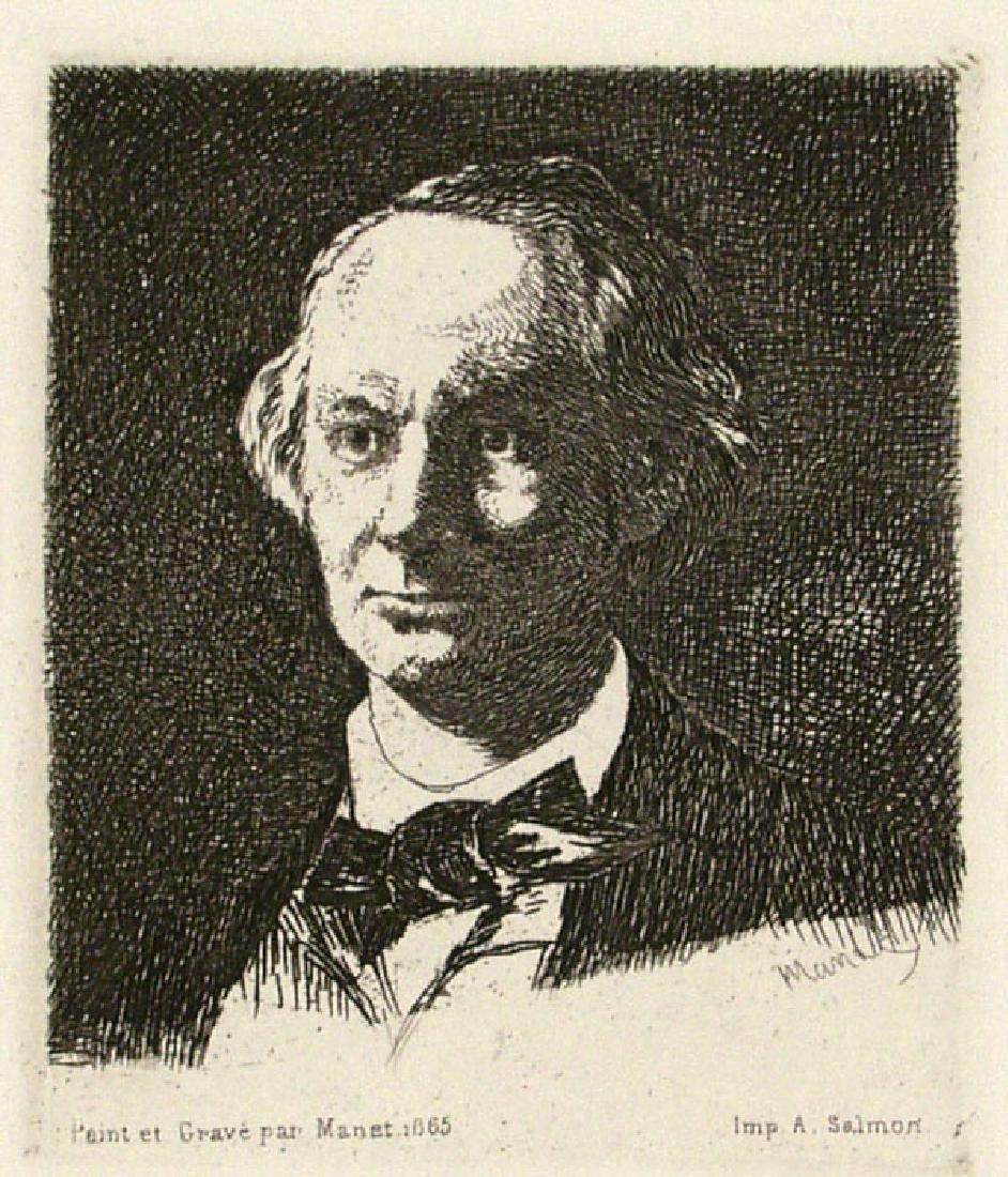 522: EDOUARD MANET - Charles Baudelaire de Face III