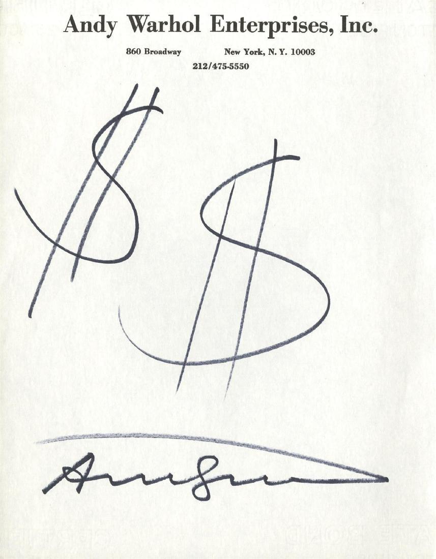 632: ANDY WARHOL - $$ [dollar signs]