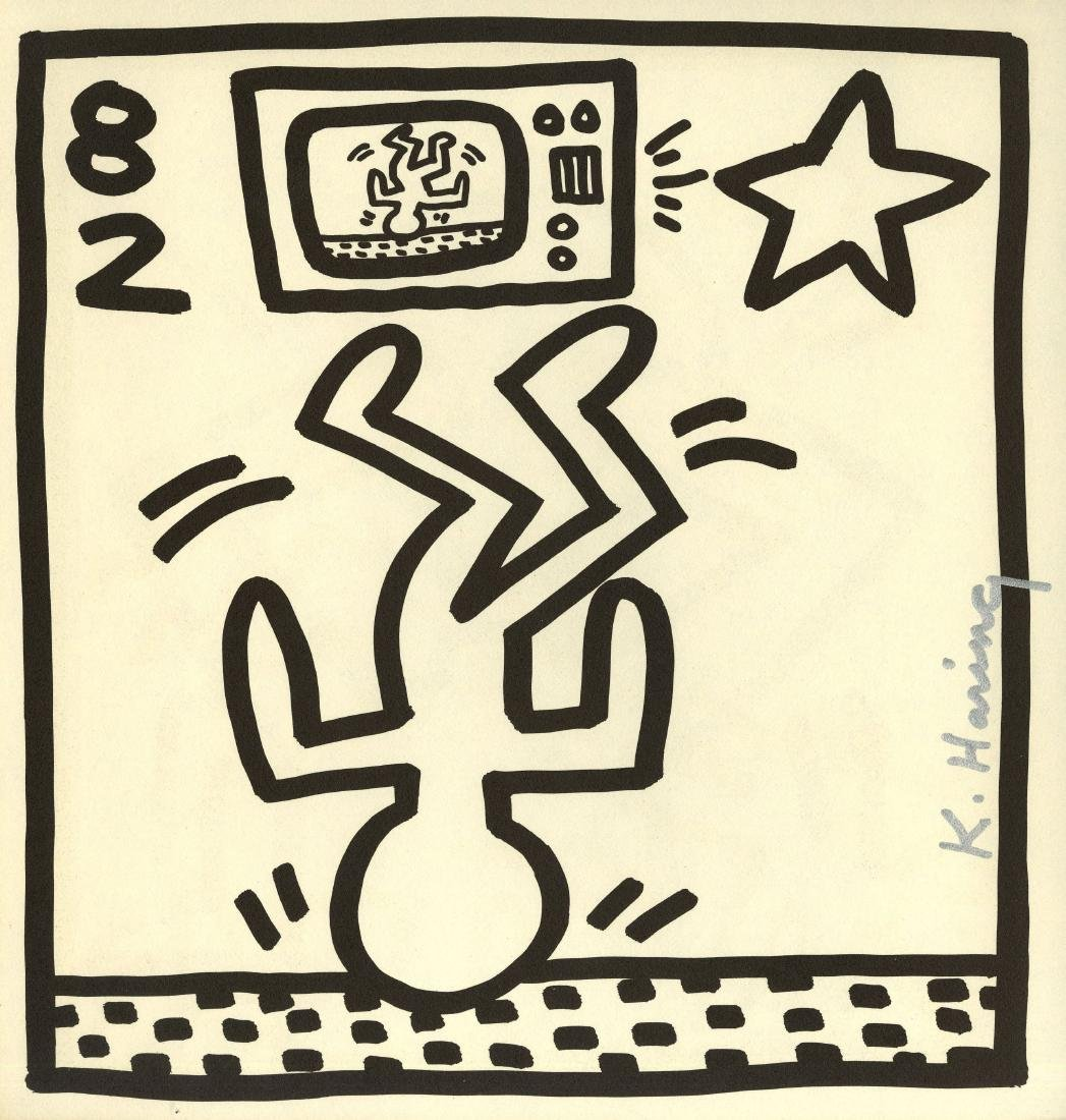 659: KEITH HARING - Upside Down Man
