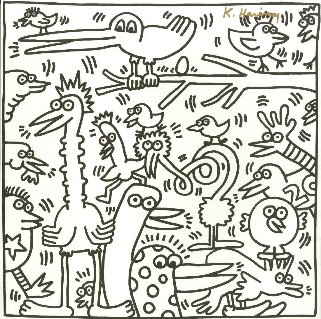 685: KEITH HARING - Twenty Birds
