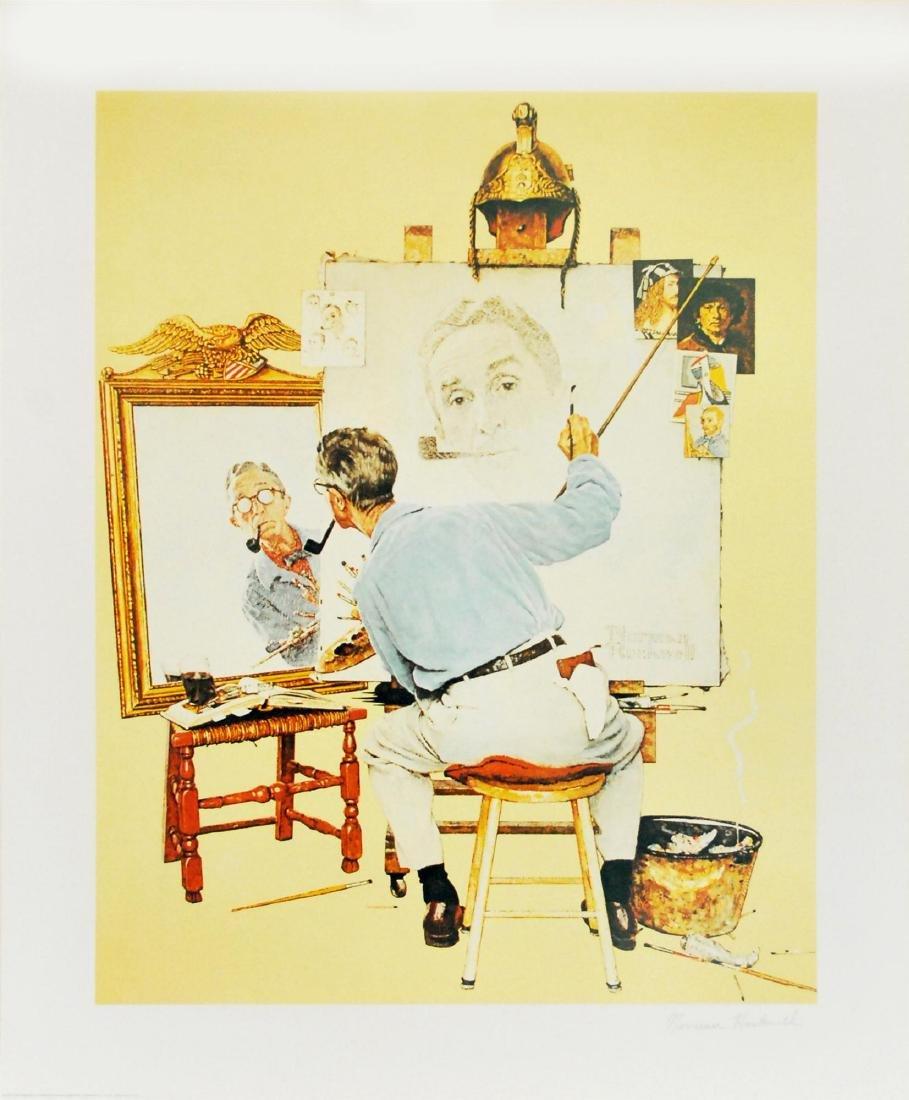691: NORMAN ROCKWELL - Triple Self-Portrait