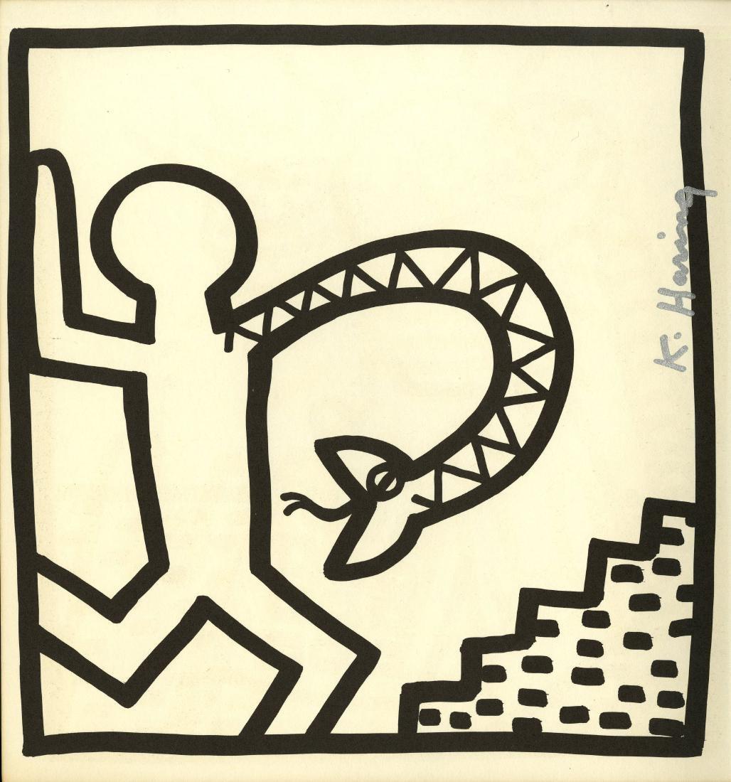 762: KEITH HARING - Snake Arm