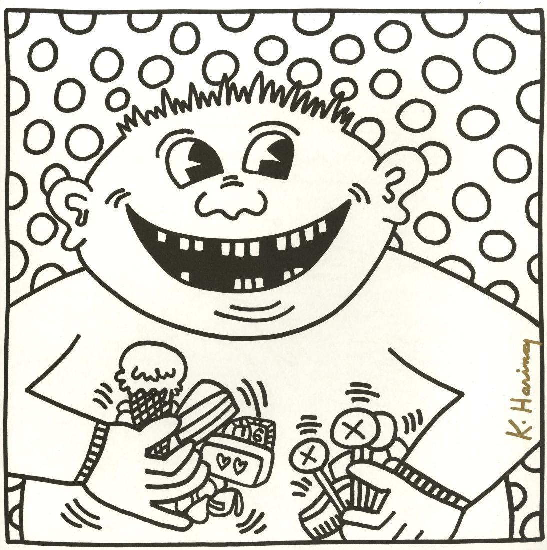 764: KEITH HARING - Sixteen Teeth