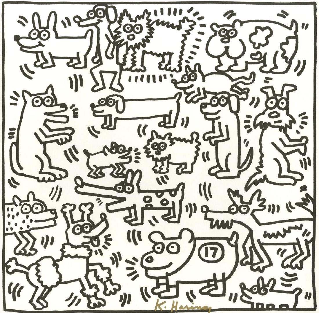 775: KEITH HARING - Seventeen Dogs
