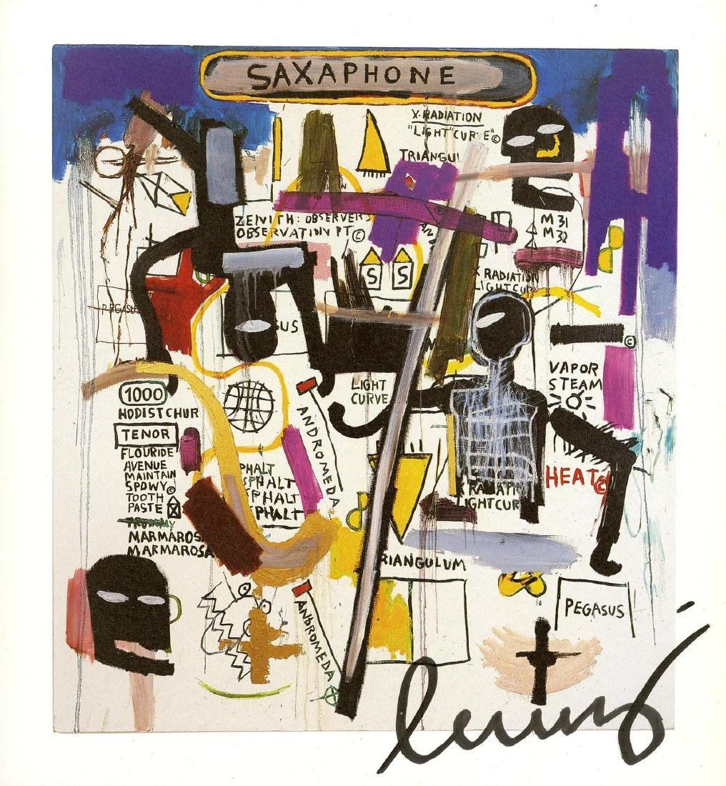 784: JEAN-MICHEL BASQUIAT - Saxophone