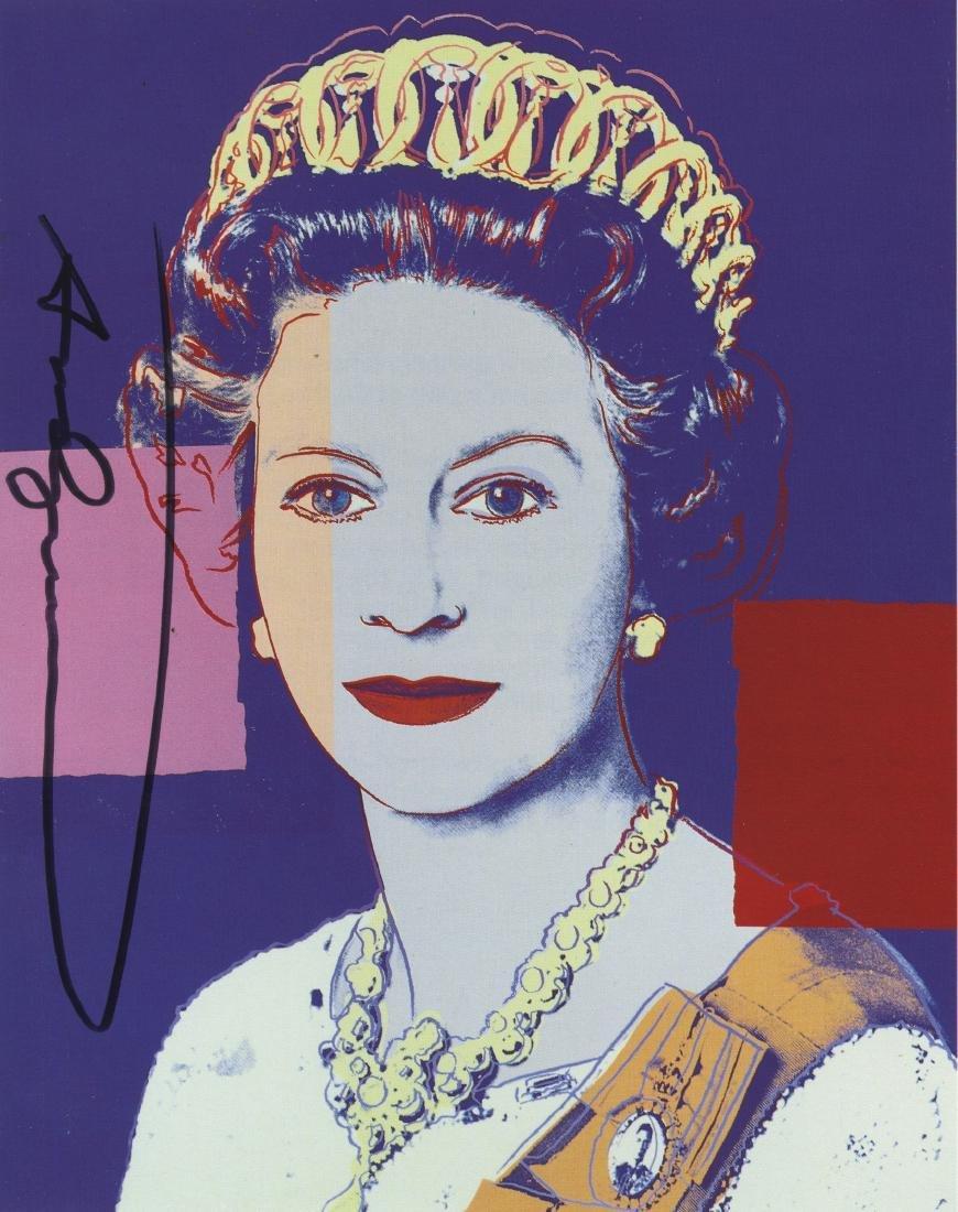 816: ANDY WARHOL - Queen Elizabeth II (#4)
