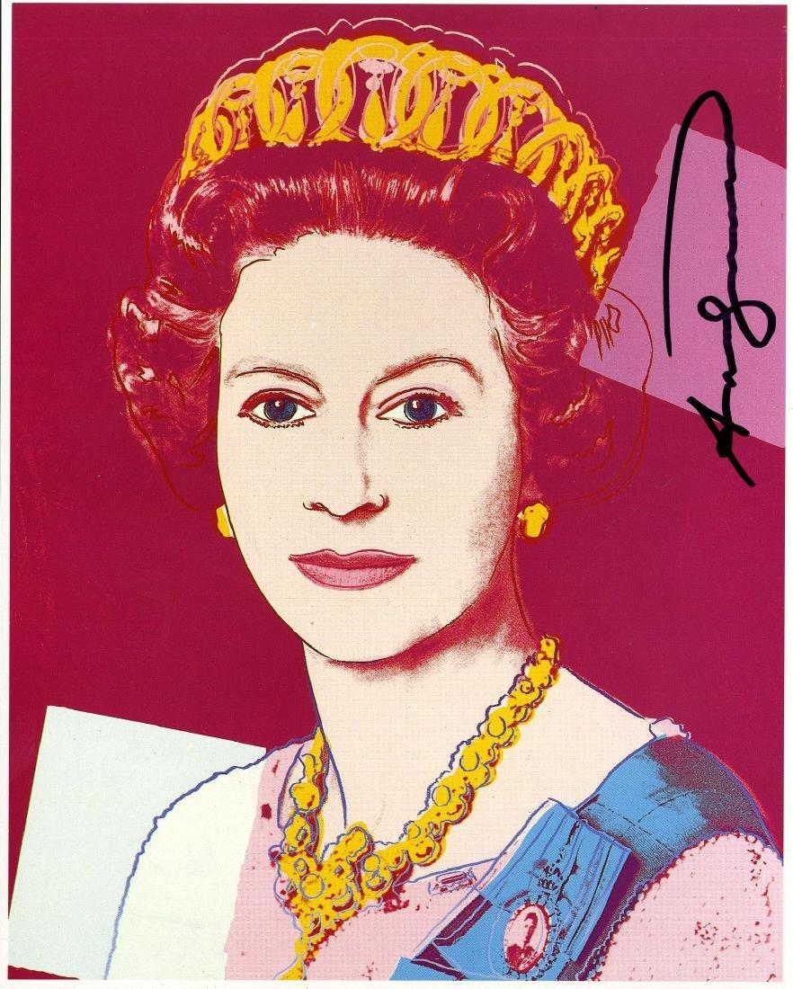817: ANDY WARHOL - Queen Elizabeth II (#3)