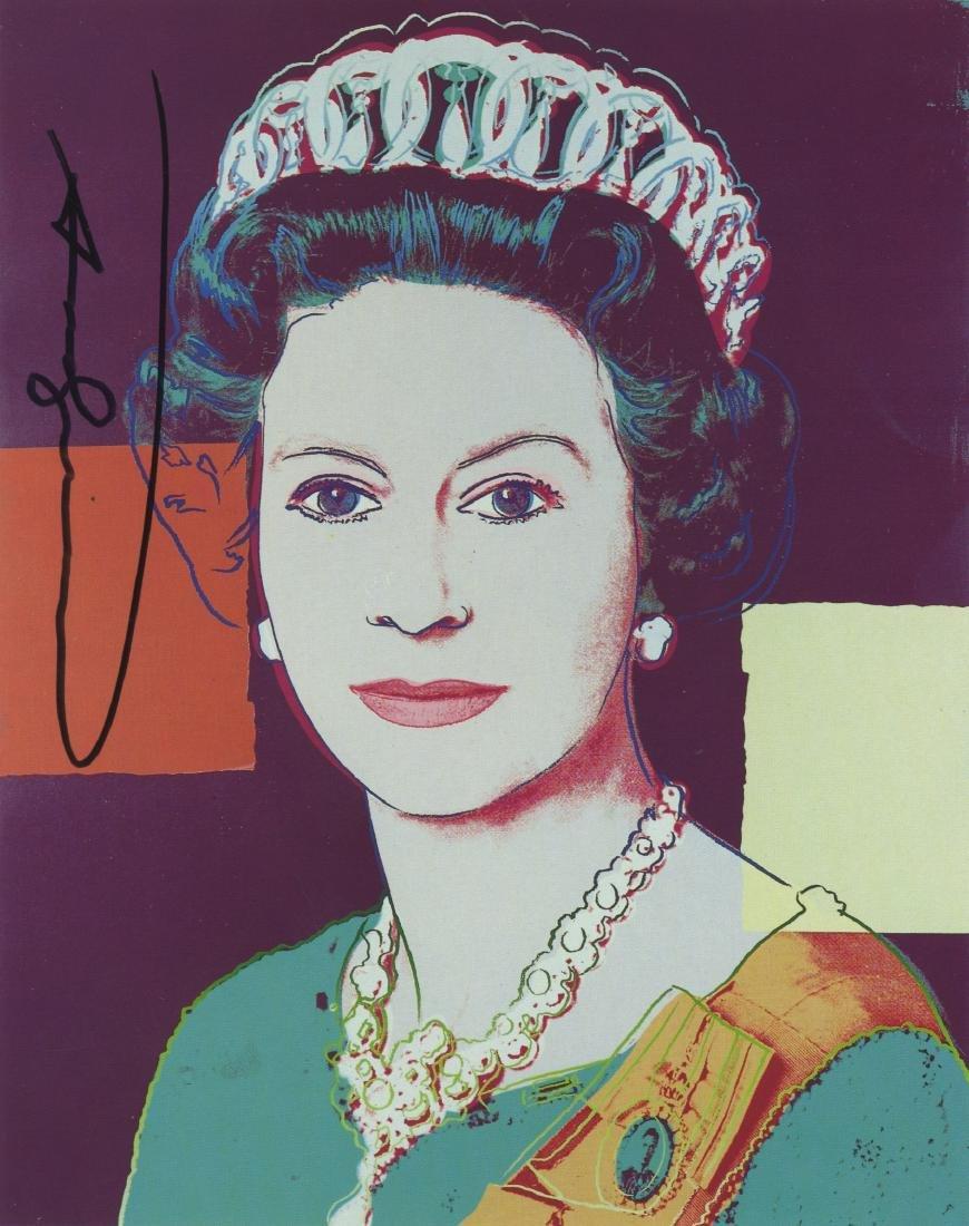 818: ANDY WARHOL - Queen Elizabeth II (#2)