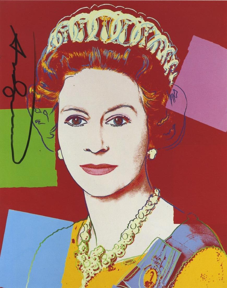 819: ANDY WARHOL - Queen Elizabeth II (#1)