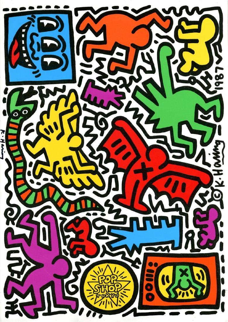 827: KEITH HARING - Pop Shop Sticker Sheet