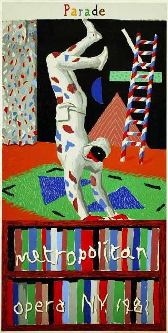 852: DAVID HOCKNEY - Parade, Metropolitan Opera, N.Y.,