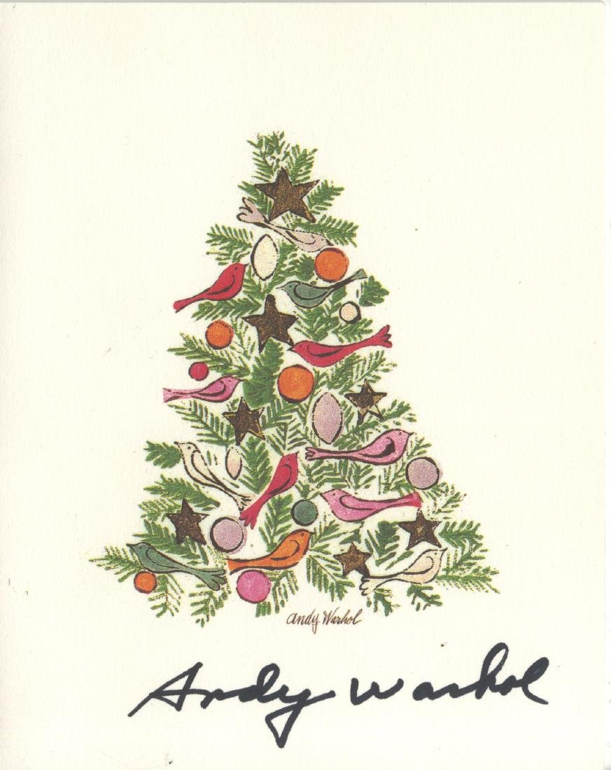 863: ANDY WARHOL - Ornamented Christmas Tree