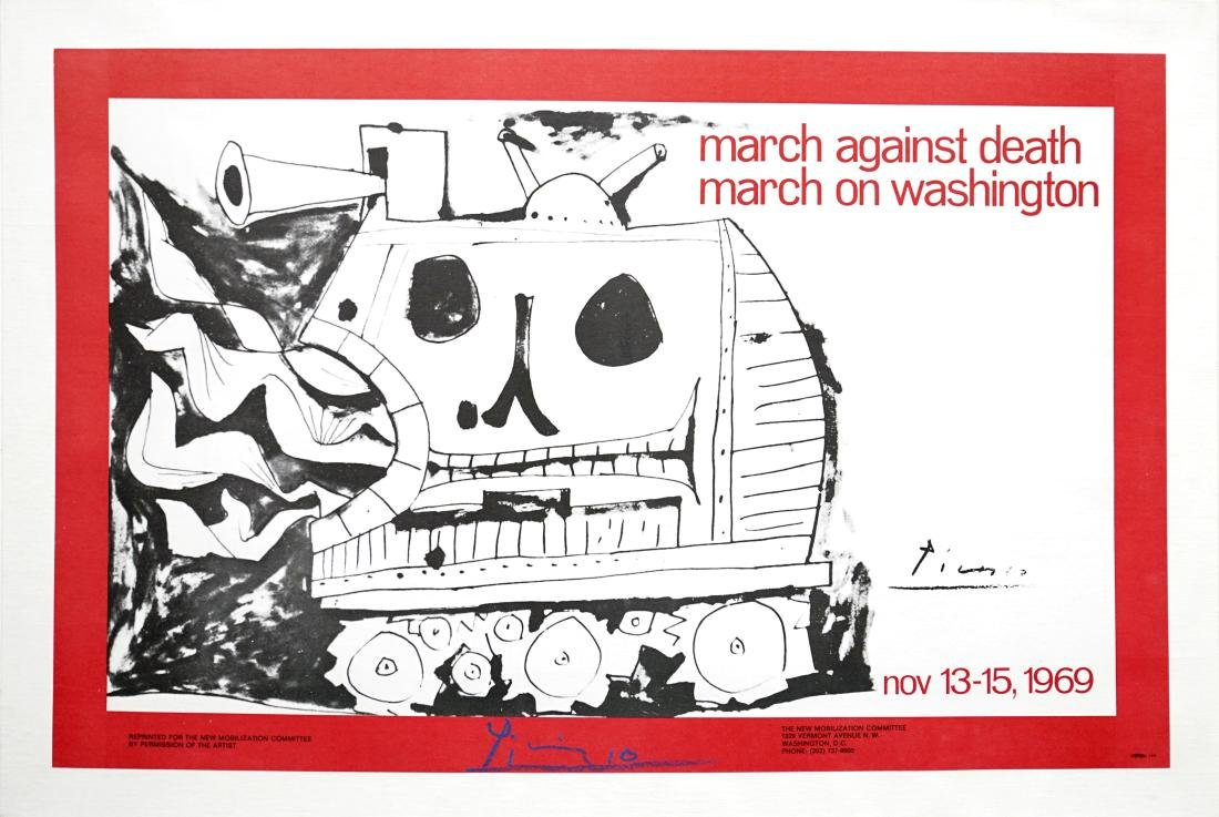 926: PABLO PICASSO - March against Death - March on
