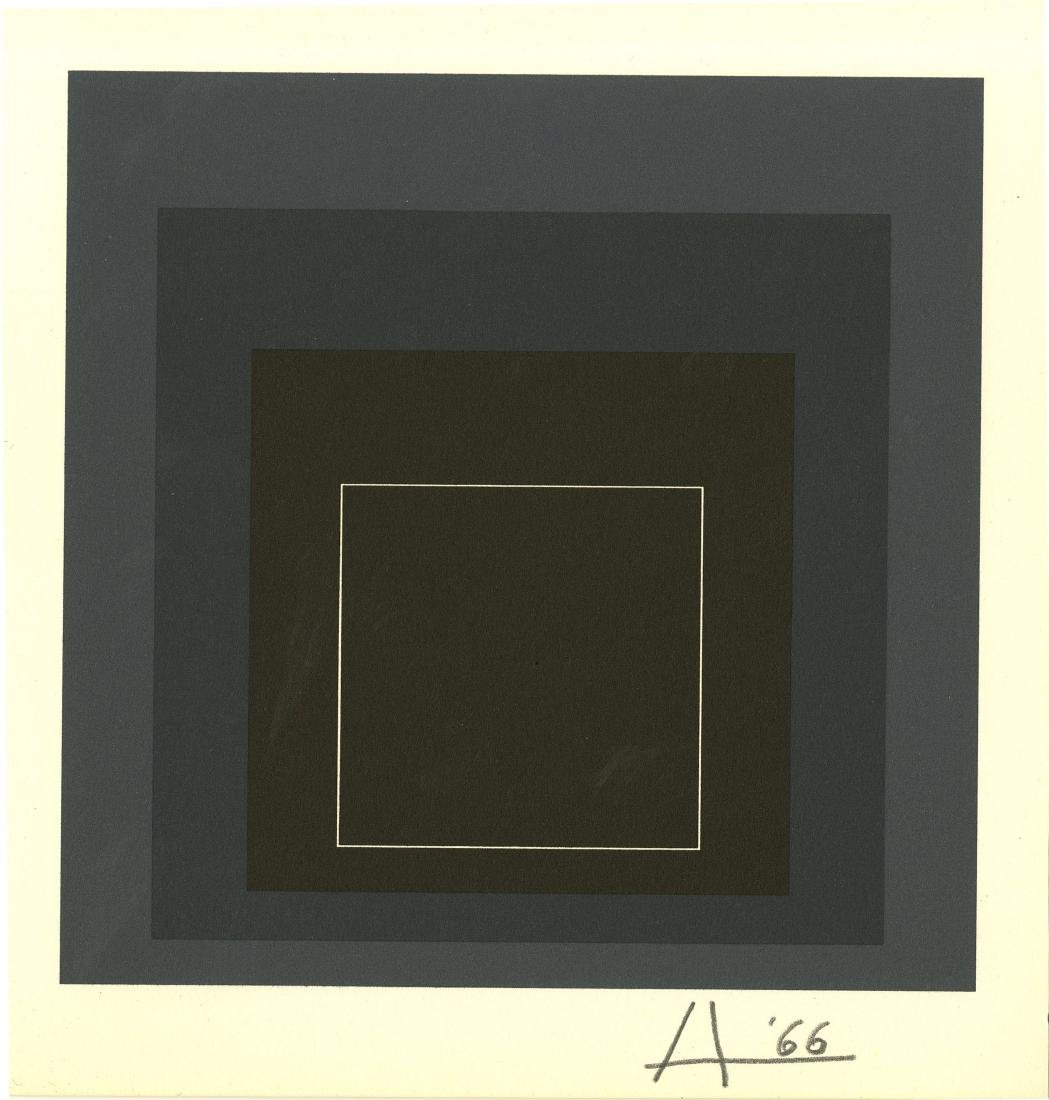 1025: JOSEF ALBERS - Homage to the Square: White Line