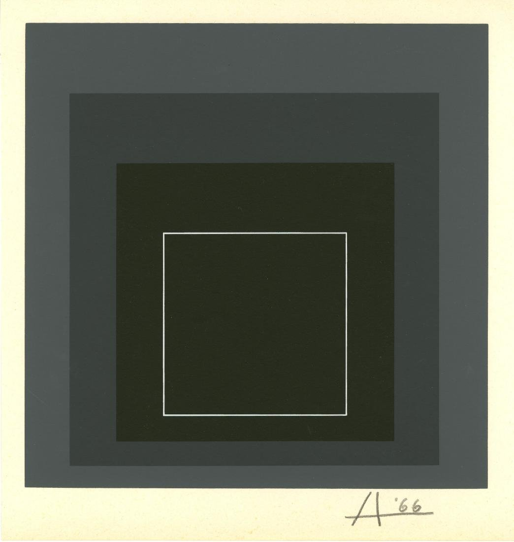 1026: JOSEF ALBERS - Homage to the Square: White Line