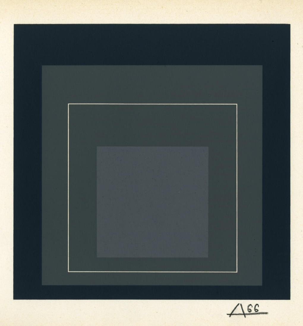 1027: JOSEF ALBERS - Homage to the Square: White Line