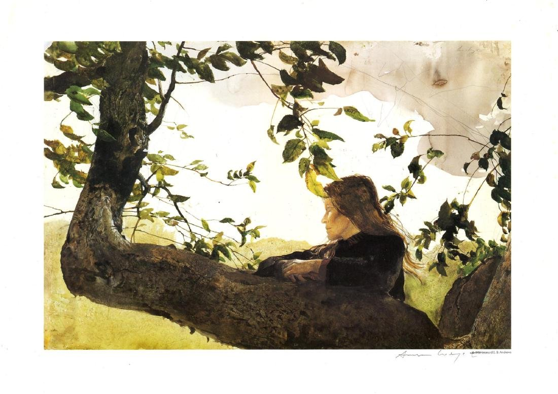 1050: ANDREW WYETH - Helga in Orchard