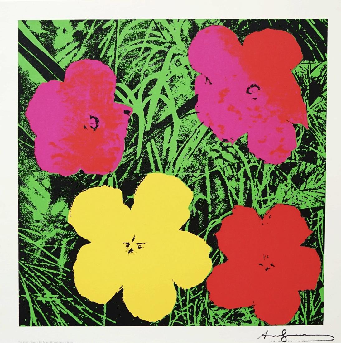 "1087: ANDY WARHOL - Flowers (""Red & Green"")"
