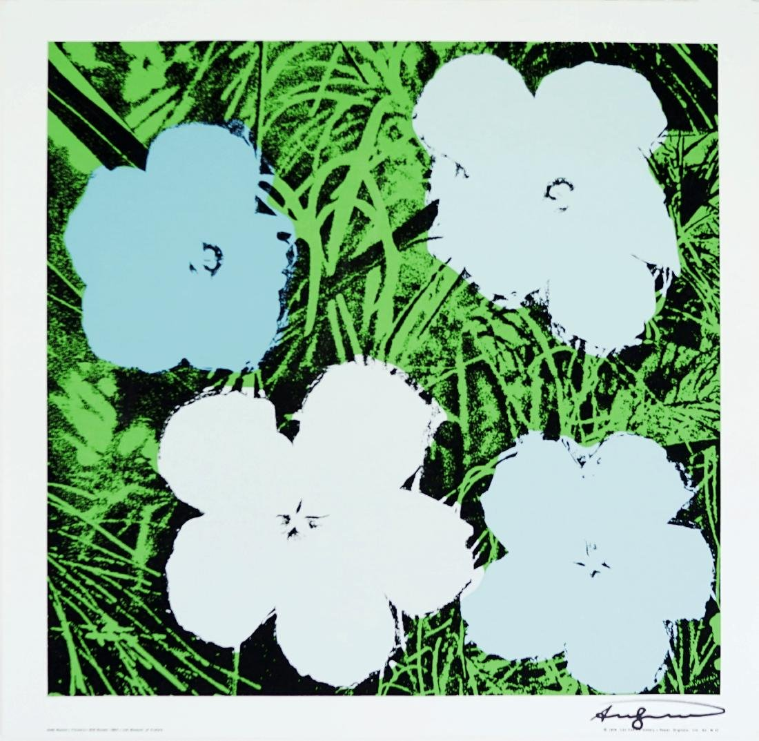 "1088: ANDY WARHOL - Flowers (""Blue & Green"")"