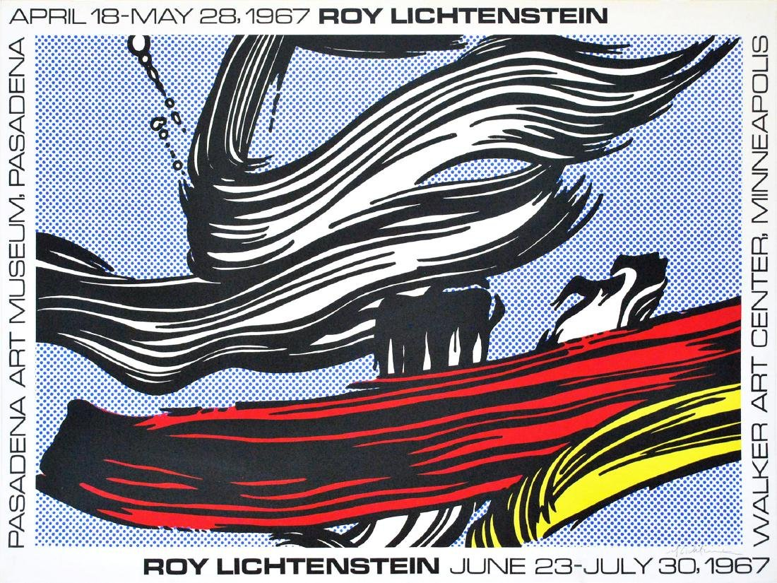 1183: ROY LICHTENSTEIN - Brushstrokes