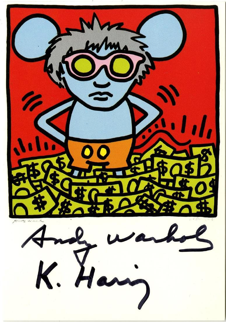 1230: KEITH HARING & ANDY WARHOL - Andy Mouse III,