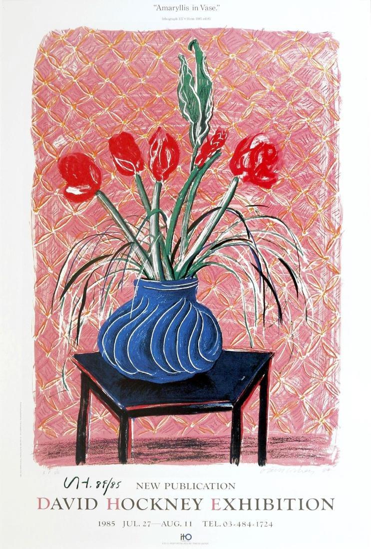 1235: DAVID HOCKNEY - Amaryllis in Vase