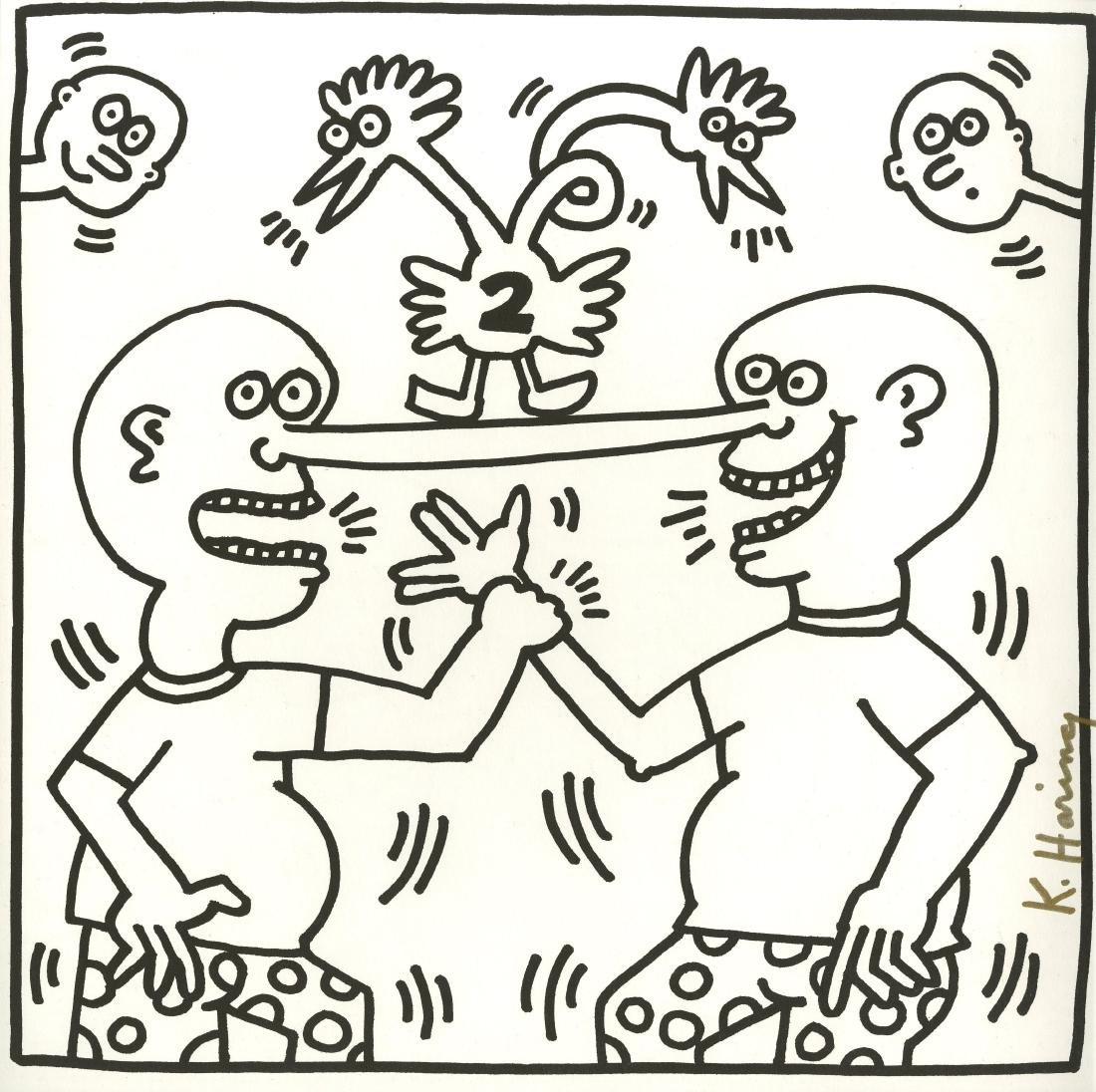 1308: KEITH HARING - Two Heads