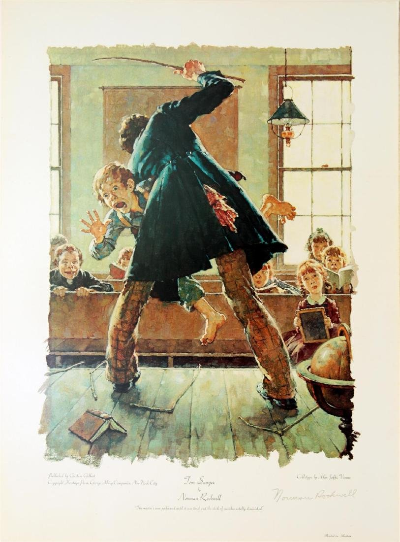1315: NORMAN ROCKWELL - Tom Sawyer: The Master's Arm…