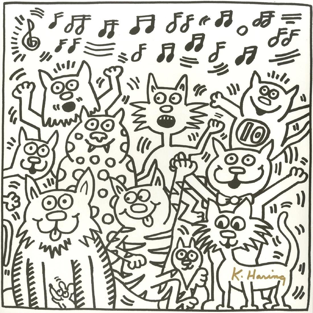 1349: KEITH HARING - Ten Cats