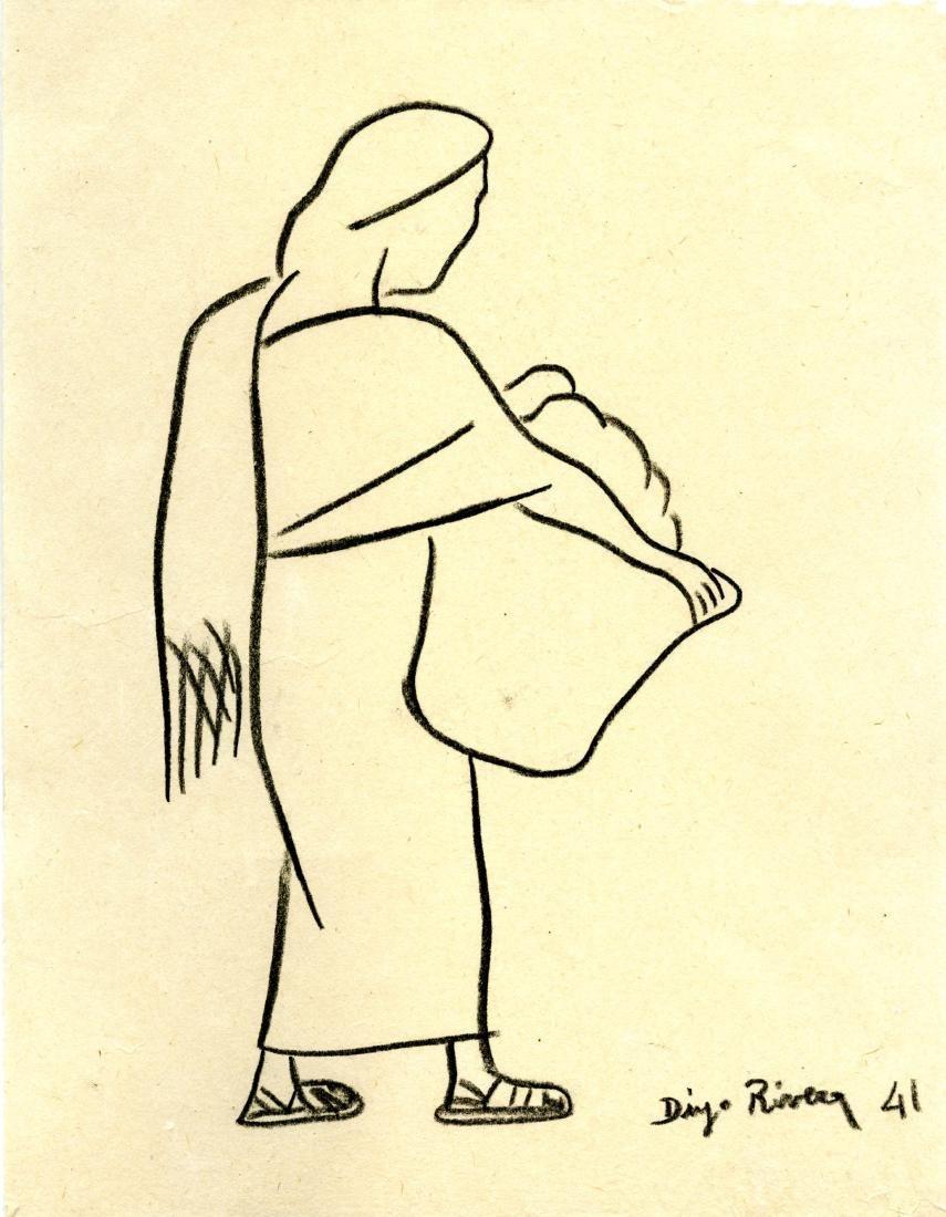1530: DIEGO RIVERA - Mujer con Canasta