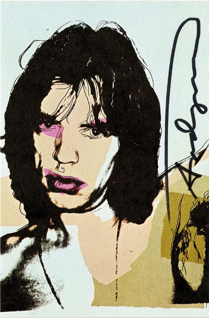 1555: ANDY WARHOL - Mick Jagger #09 [first edition]