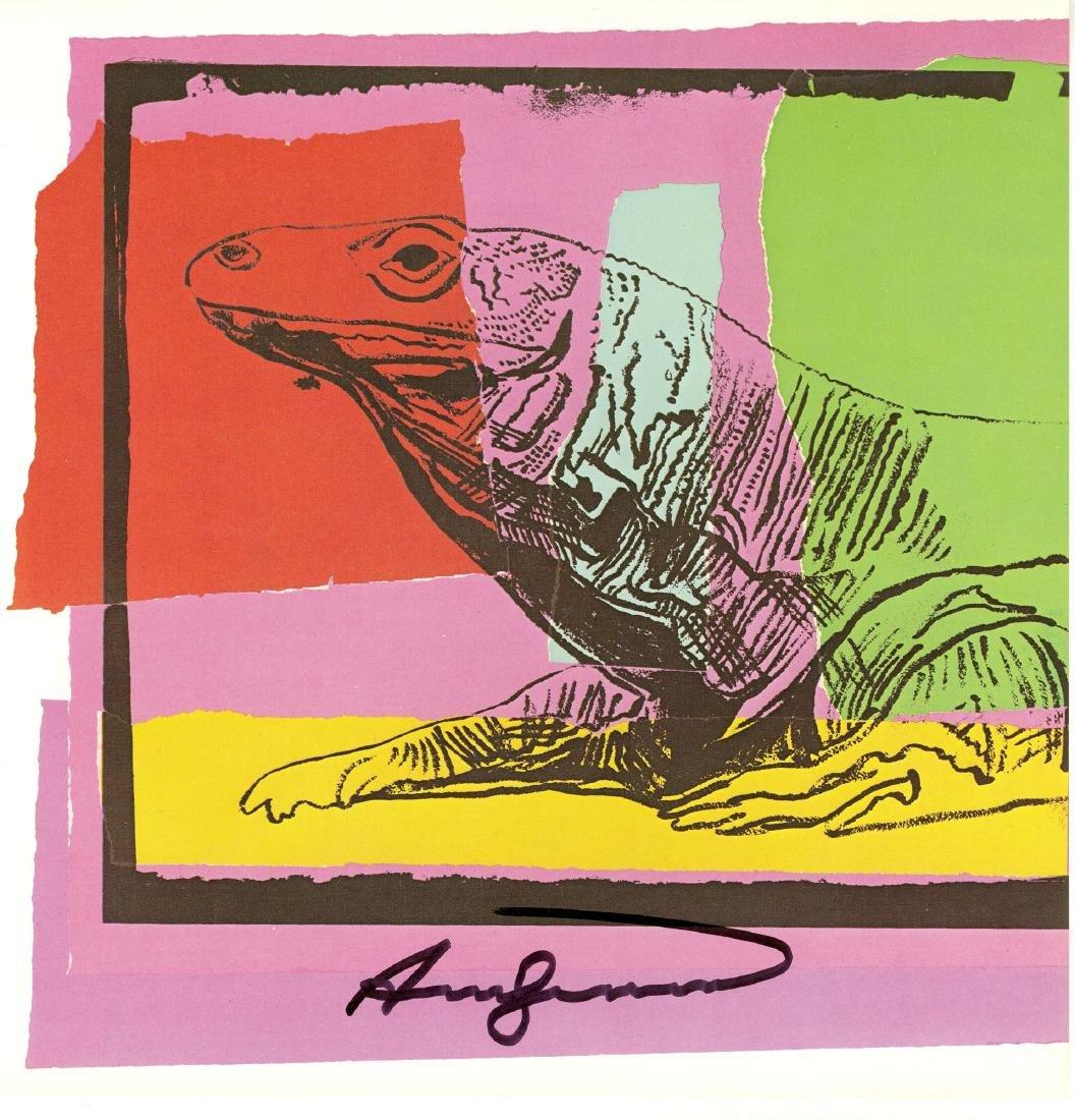 1642: ANDY WARHOL - Komodo Dragon (Monitor Lizard)