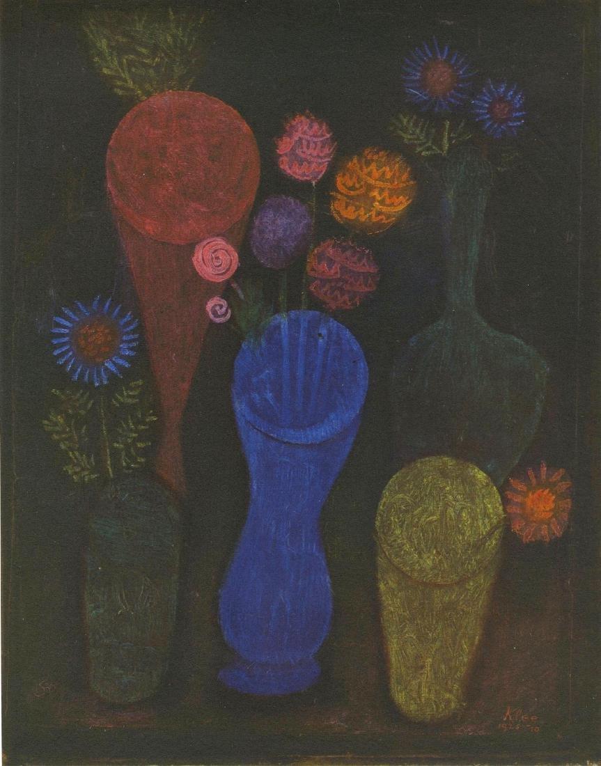 """1762: PAUL KLEE - Flowers in Vases [""""Fleurs dans les"""