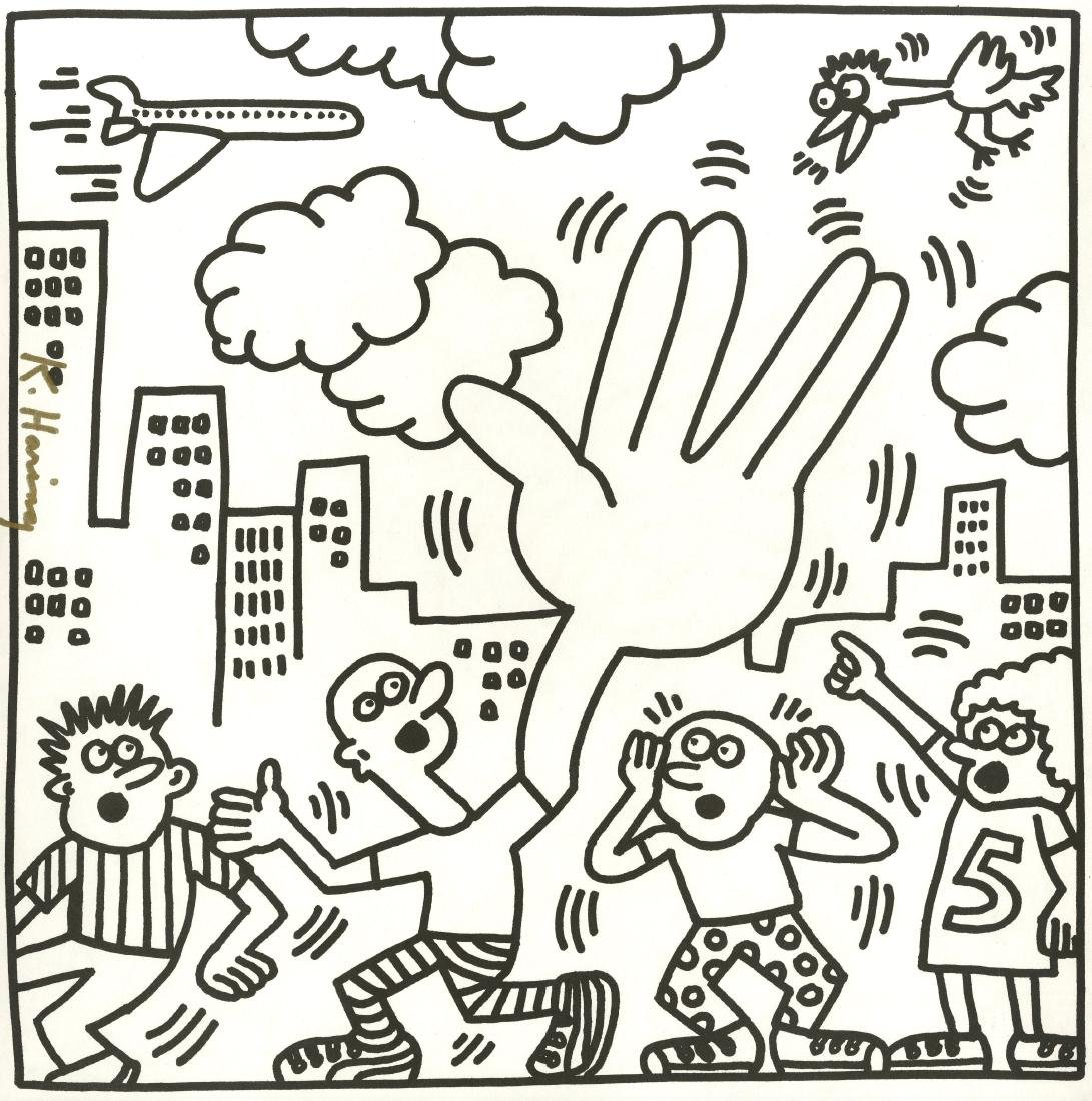 1767: KEITH HARING - Five Clouds
