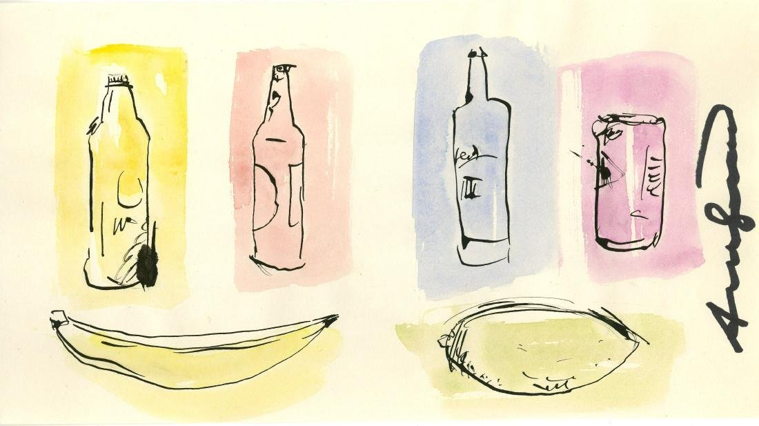 1870: ANDY WARHOL - Bottles, Can, Fruit