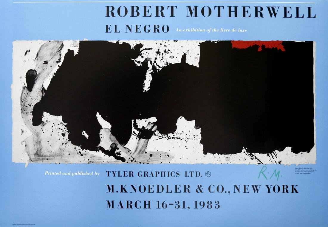 1877: ROBERT MOTHERWELL - Black with No Way Out