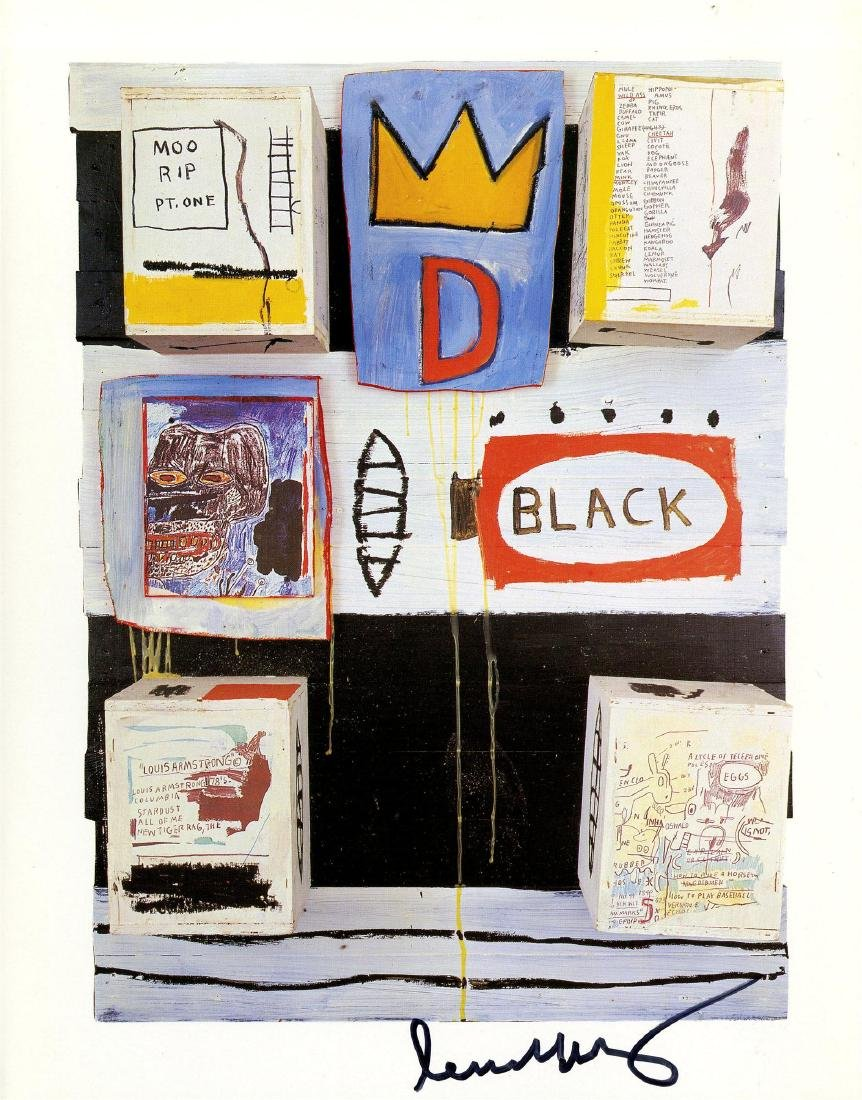 1878: JEAN-MICHEL BASQUIAT - Black
