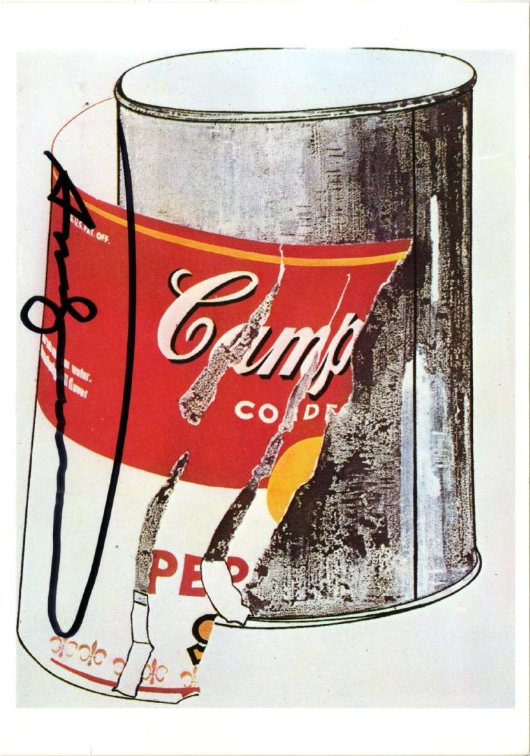 1879: ANDY WARHOL - Big Torn Campbell's Soup Can