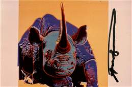 66 ANDY WARHOL  Black Rhinoceros